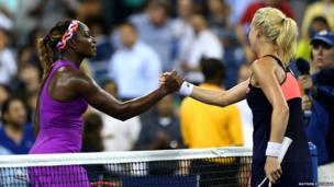 Sloane Stephens and Urzula Radwanska
