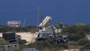 A Patriot anti-missile battery is deployed in the northern city of Haifa, 29 August, 2013