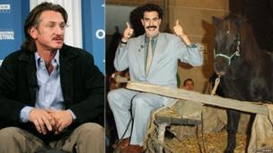 Sean Penn and Sacha Baron Cohen