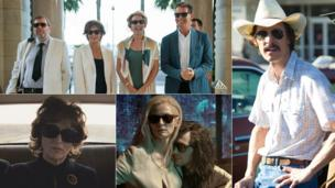 Clockwise from top left: The Love Punch, Dallas Buyers Club, Only Lovers Left Alive, August: Osage County