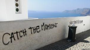 Graffiti in Santorini