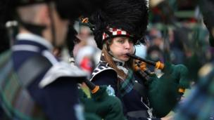 Pipe playing at the Braemar Gathering