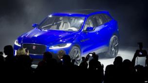 The Jaguar C-X17 is presented at the Frankfurt motor show