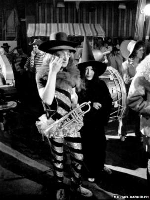 John Lennon and Yoko Ono at The Rolling Stones Rock and Roll Circus