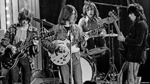 Dirty Mac supergroup with Eric Clapton, John Lennon, Mitch Mitchell and Keith Richards at The Rolling Stones Rock and Roll Circus