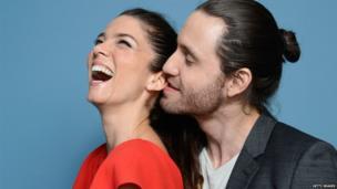 Actress Juana Acosta and Edgar Ramirez of Libertador