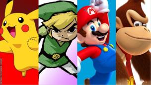 Pikachu, Link, Mario and Donkey Kong