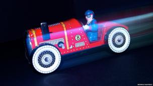 Clockwork racing car