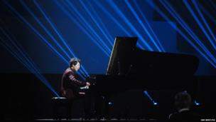 Lang Lang performs at the Classic Brit Awards 2013, Royal Albert Hall, Kensington Gore, London