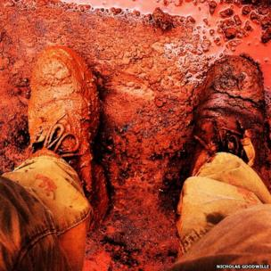 Shoes in mud