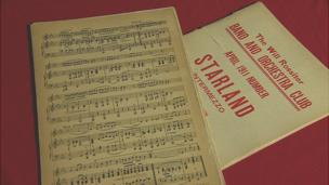 Mr Hartley's sheet music was found in the bag