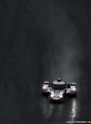 Katherine Legge, of England, drives the DeltaWing DWC13
