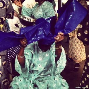 Nigerian wedding guest