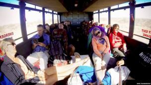 Tourists on a coach