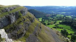 Eglwyseg rocks above Llangollen by Paul Faircloth, from Mold, Flintshire
