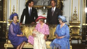 Prince William with his family