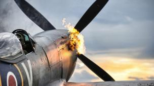 Spitfire TE311 performs a hot start