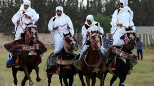 Horse riders at Libya's annual equestrian festival - Friday 25 October 2013