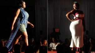 Models taking part in a fashion show for women with fuller figures in Abidjan, Ivory Coast - Wednesday 30 August 2013