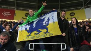 Cardiff fans celebrate