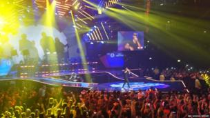 Tinie Tempah performs at the 2013 Radio 1 Teen Awards