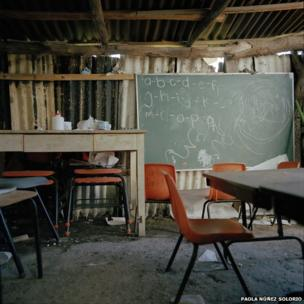 Classroom in Michoacan, Mexico.