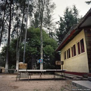 Playground at a Technical Junior High School in the Mountain In Tlaxiaco, Oaxaca