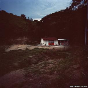 Escuela Telesecundaria. Agua de la Cana, Pinotepa Nacional, Oaxaca.