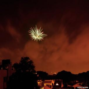 Firework over Bangalore