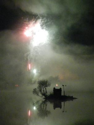 Fireworks over Loch Shin