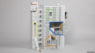 Plastic toy style doll house
