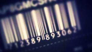 A barcode with numbers