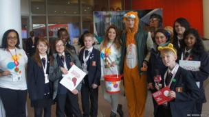 Children in Need fundraisers and Northwood School team.
