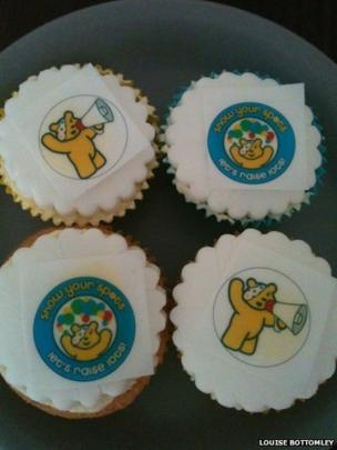 Children in Need cakes. Photo: Louise Bottomley