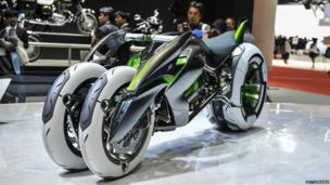 Kawasakis J Three Wheeler EV concept tricycle