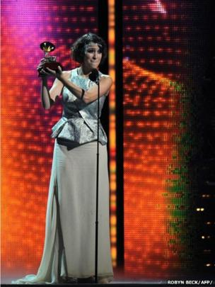 Best New Artist Gaby Moreno at the Grammy Awards