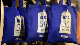 Doctor Who shopping bags