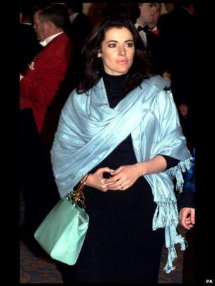 Nigella Lawson at the British Book Awards 2000, which took place at the London Hilton on February 2001.