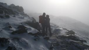 Two hikers taken on Snowdon