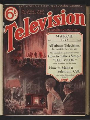 Cover of one of the world's first ever television magazines from 1928