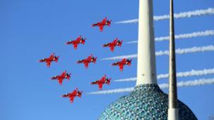 Red Arrows in Kuwait