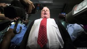 Toronto Mayor Rob Ford responds to the Toronto police investigation dubbed
