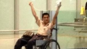 Ji Zhongxing sets off a home-made bomb in the arrivals hall at Beijing Airport, 20 July 2013