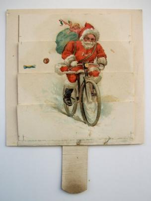 Father Christmas card circa 1870s - 1880s