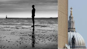 Antony Gormley's Another Place at Waterloo Beach and on London's rooftops in Event Horizon