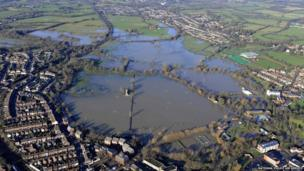 Flooding along the River Medway