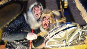 Performers at Newcastle's New Year's Eve Winter Carnival