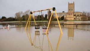 A playground under water