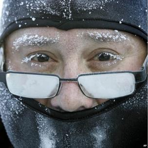 Man in freezing conditions in Janesvilla, WI (6 Jan 2014)