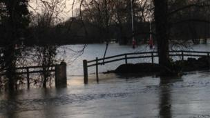 Flooding at Magdalen College School Playing Fields